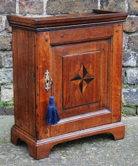 Georgian Oak Cupboard & Antique Continental Cabinet